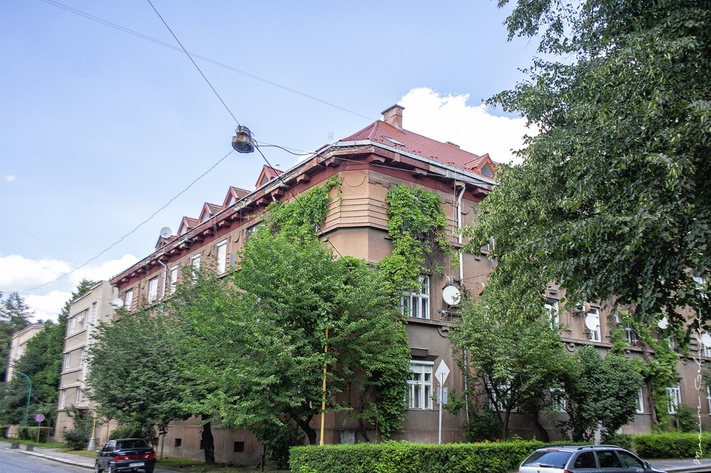 Перше урядову будівлю (1923-1924, арх. Алоїз Дріак, вул. Довженка, 4)